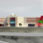 Ашан, Косино, Новоухтомское шоссе, проект торгового комплекса, главный вход