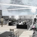 Ашан, Косино, Новоухтомское шоссе, проект торгового комплекса, зона кафетерия