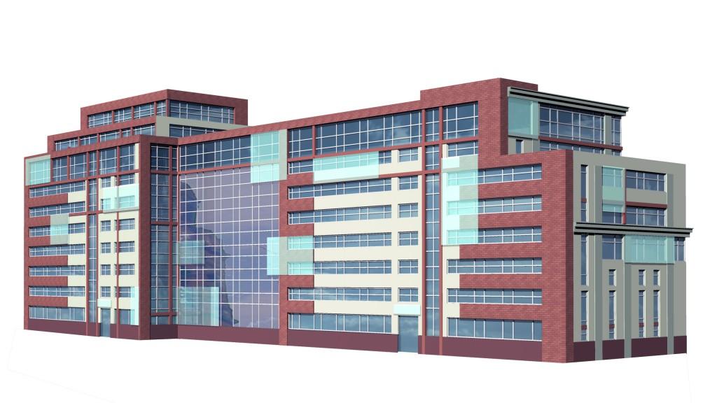 Бизнес-центр, Долгоруковская улица, концепция, общий вид