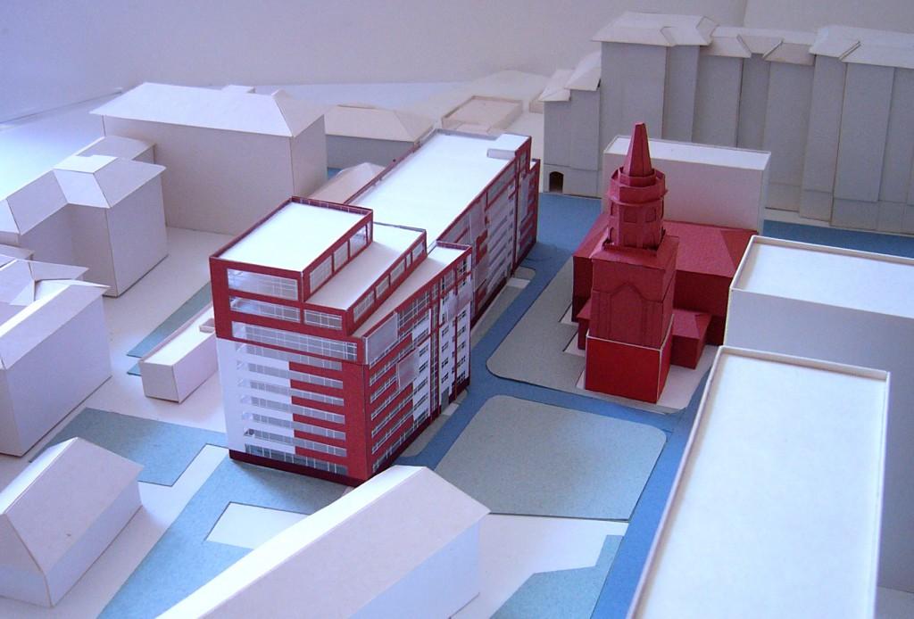 Бизнес-центр, Долгоруковская улица, концепция, макет