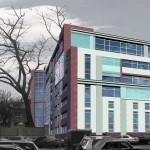 Бизнес-центр, Долгоруковская улица, концепция, общий вид, прилегающая территория