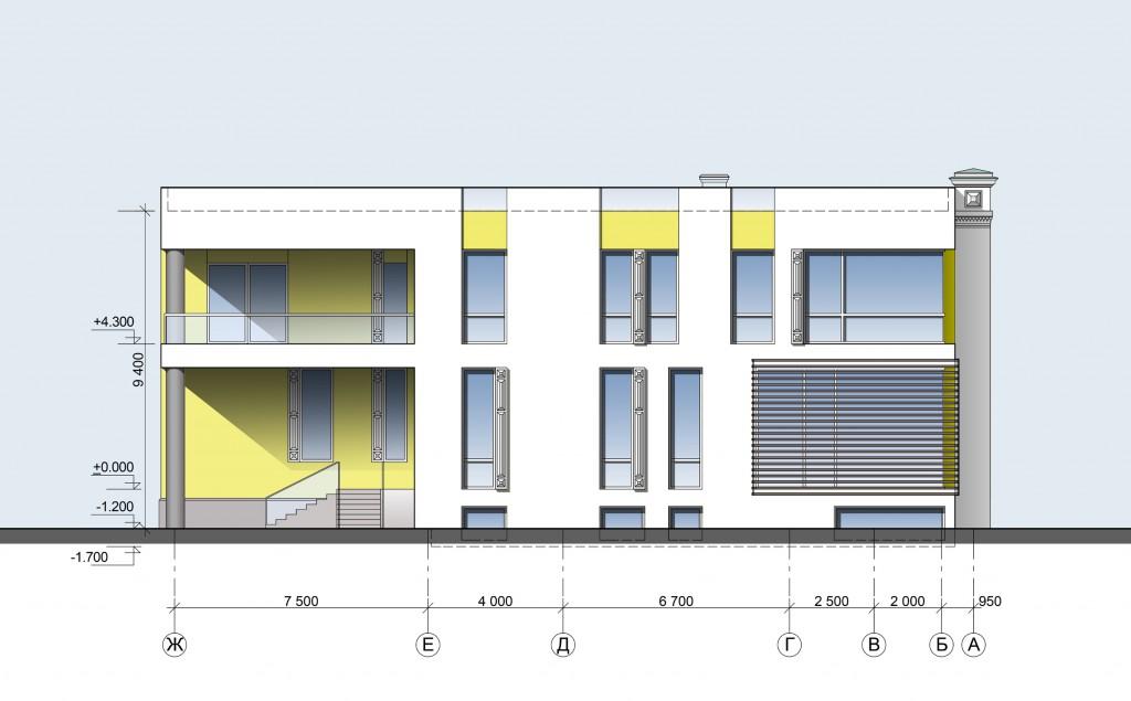 Апартаменты, Гранатный переулок, концепция, фасад