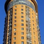 Жилой комплекс, ЖК Аврора, улица Гвардейская, башни, крупный план
