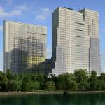 Многофункциональный жилой комплекс, ЖК Утесов, Карамышевская набережная, Проектируемый проезд, концепция, общий вид