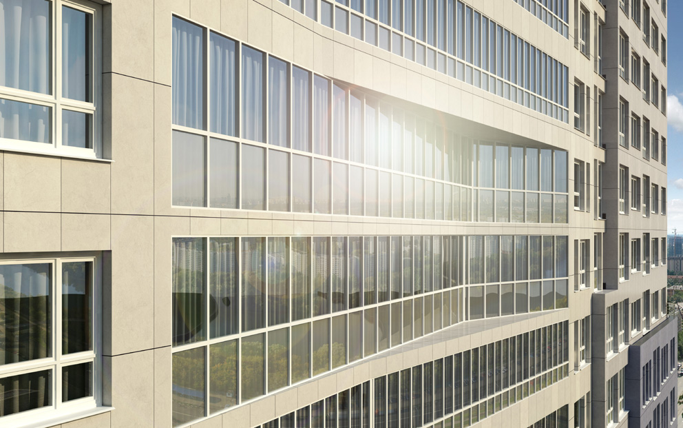 Многофункциональный жилой комплекс, ЖК Утесов, Карамышевская набережная, Проектируемый проезд, концепция, фасад, фасадные материалы