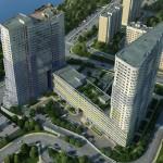 Многофункциональный жилой комплекс, ЖК Утесов, Карамышевская набережная, Проектируемый проезд, концепция, общий план территории, вид сверху