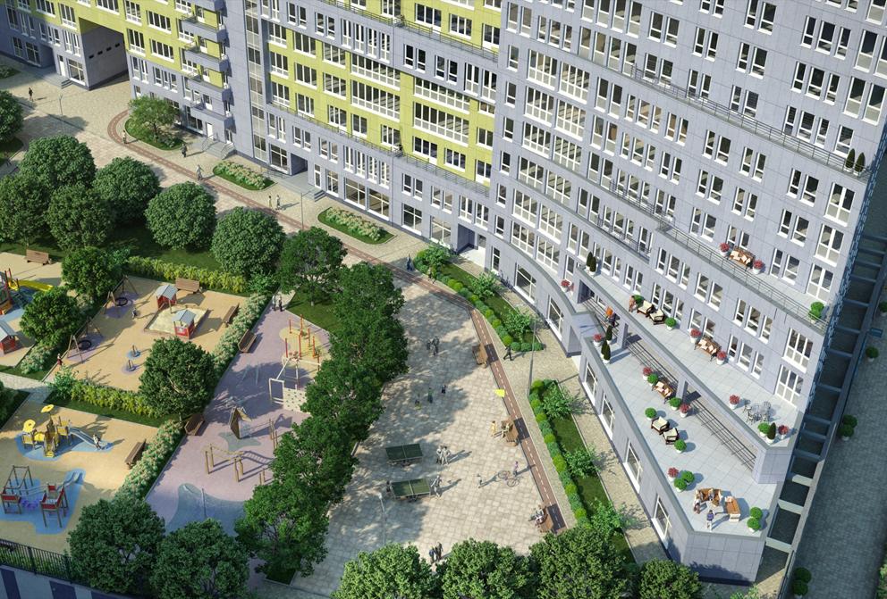 Многофункциональный жилой комплекс, ЖК Утесов, Карамышевская набережная, Проектируемый проезд, концепция, общий вид, благоустройство территории