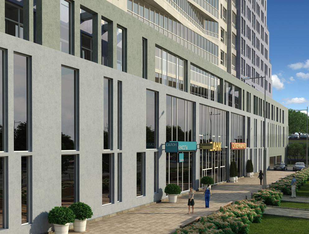 Многофункциональный жилой комплекс, ЖК Утесов, Карамышевская набережная, Проектируемый проезд, концепция, входная группа