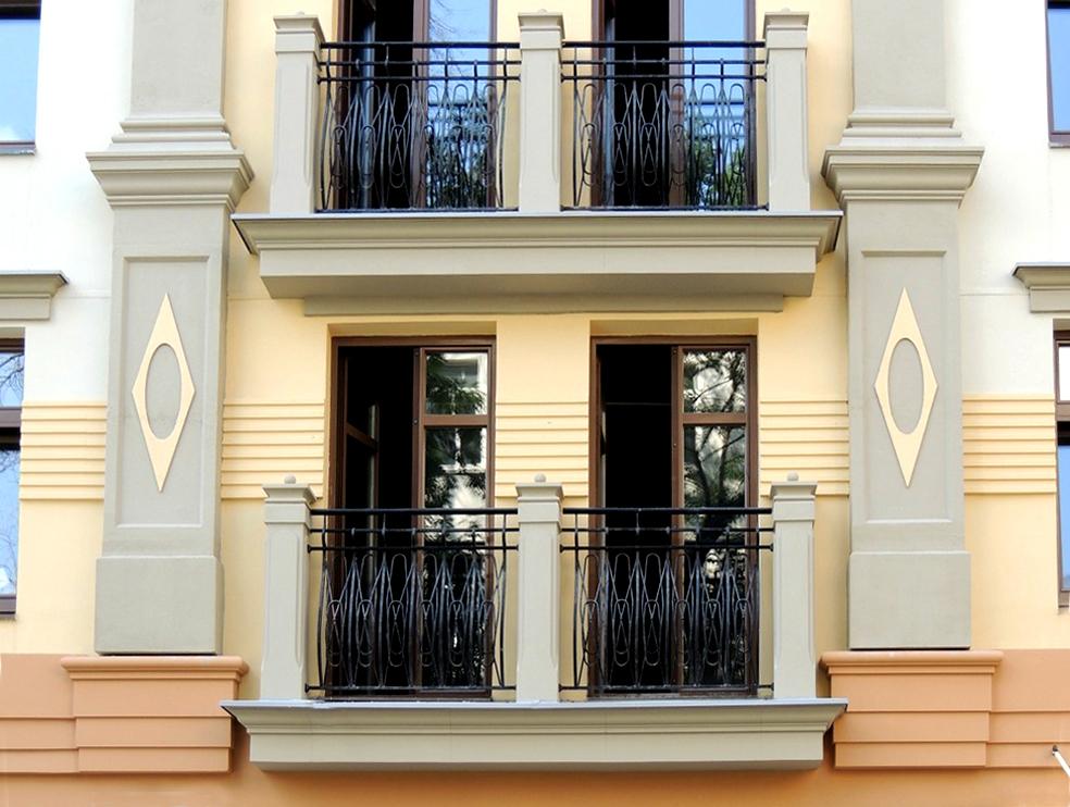 Жилой комплекс, Каретный Плаза, Большой Каретный переулок, фасад, оконный проем