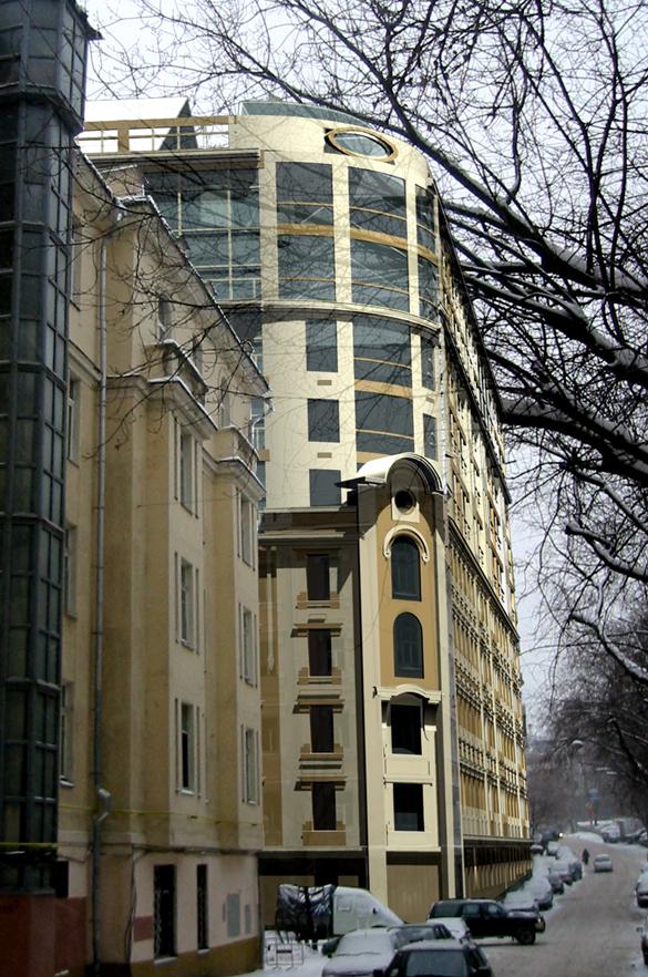 Жилой дом, улица Климашкина, надстройка, вид сбоку