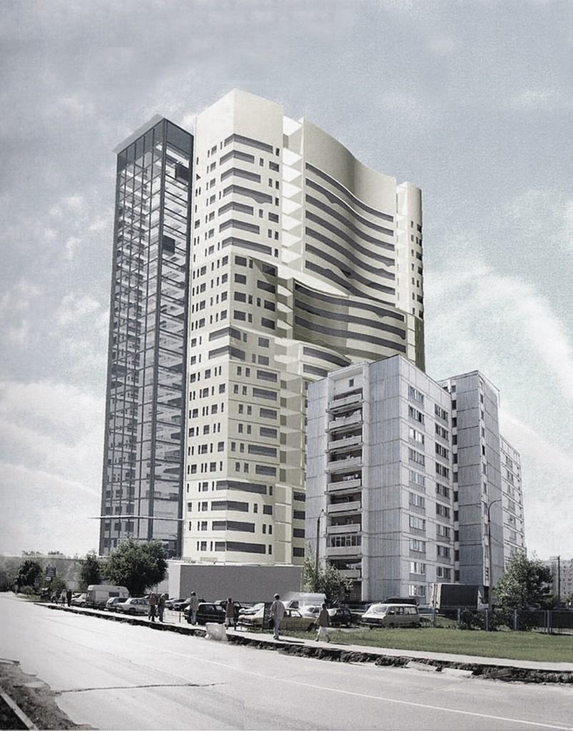 Гостиничный комплекс, улица Пришвина, общий вид, концепция