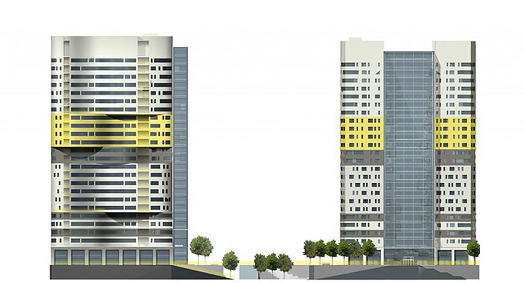 Гостиничный комплекс, улица Пришвина, концепция, фасады, дизайн-проект