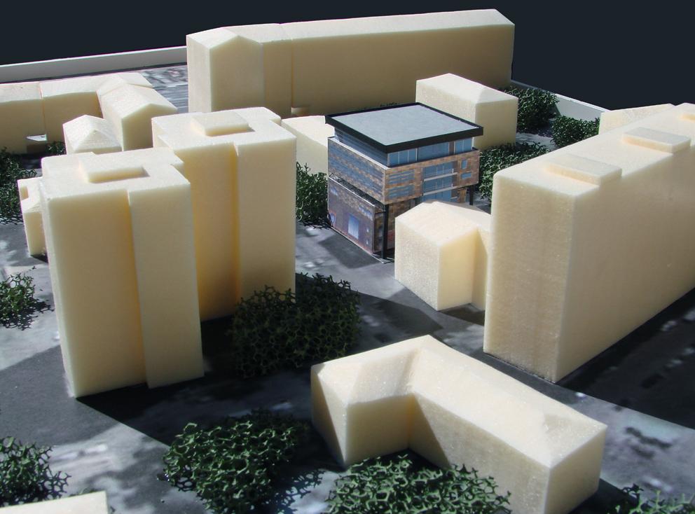 Реконструкция ресторана, Проточный переулок, макет, вид сверху