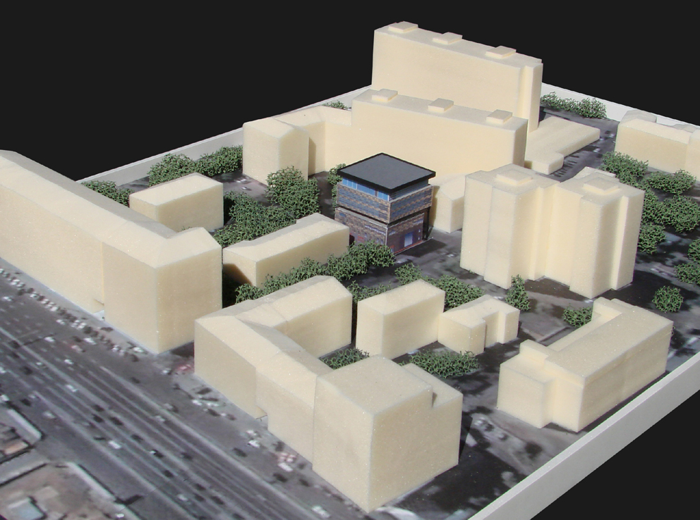 Реконструкция ресторана, Проточный переулок, макет