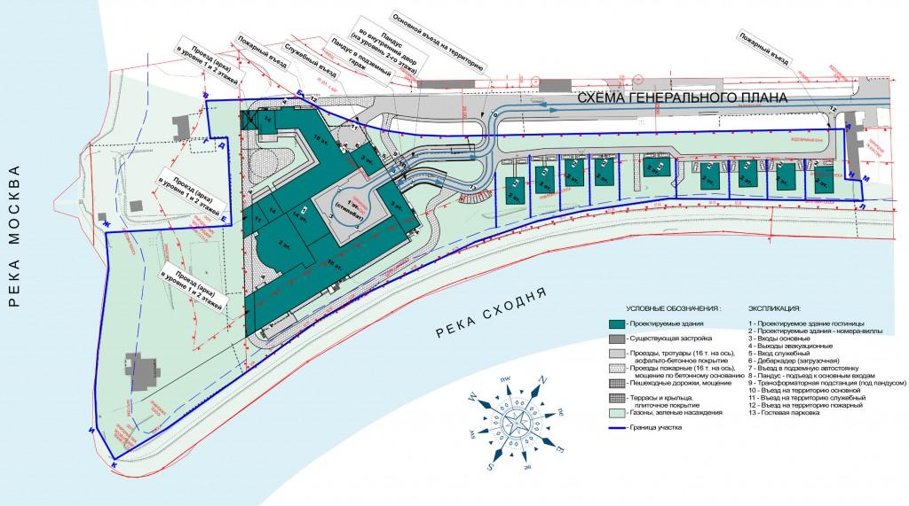 RADISSON HOTEL&SPA, Волоколамское шоссе, гостиничный комплекс, концепция, генеральный план
