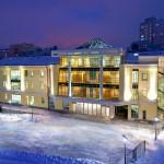 Административное здание, Таганка Атриум, Таганская 9, заснеженный фасад