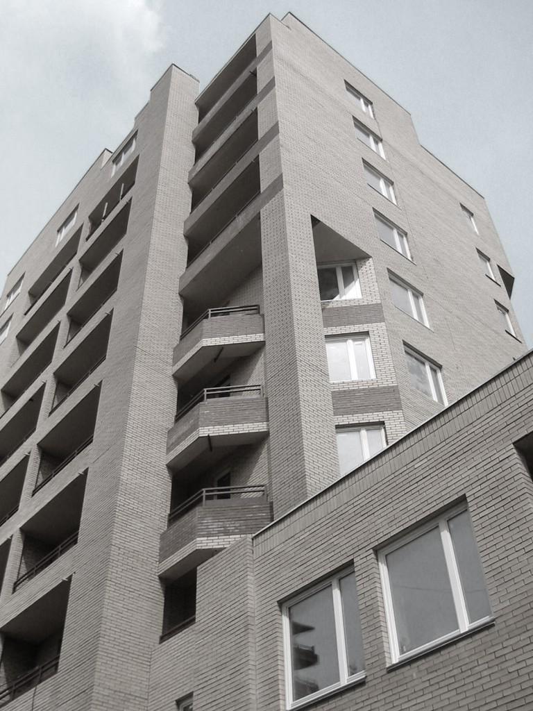 Жилой дом, Таганская 26, черно-белое фото, фасад