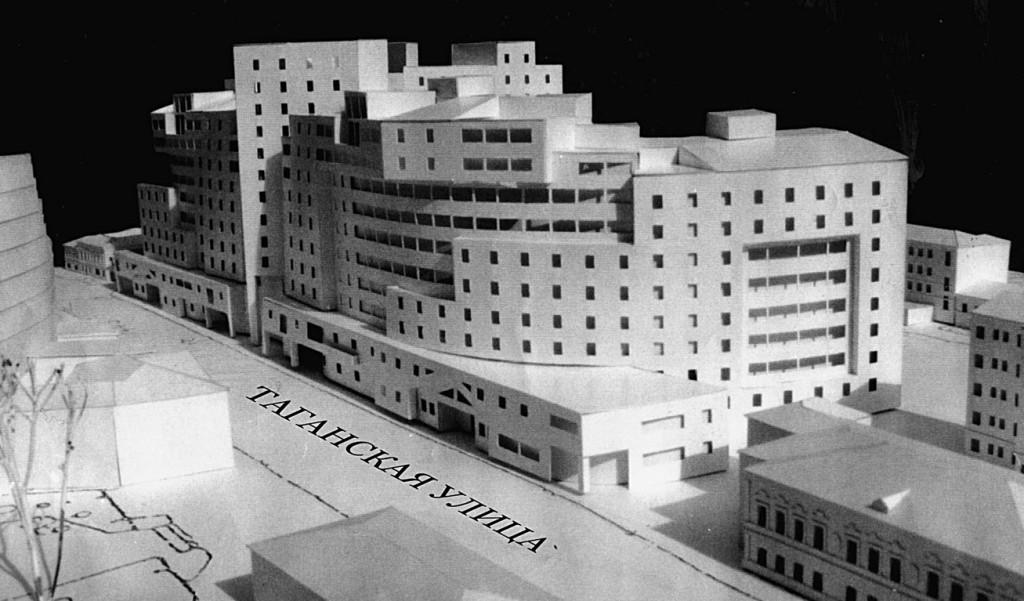 Жилой дом, Таганская 26, черно-белое фото, 3D-проект