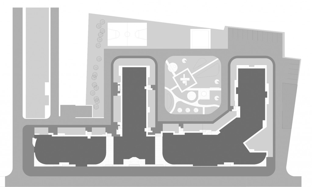 Жилой дом, Таганская 26, черно-белое фото, генеральный план