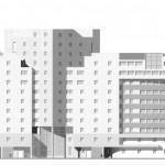 Жилой дом, Таганская 26, черно-белое фото, концепция