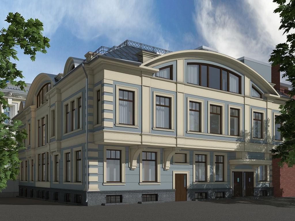 Офисный центр, Воронцовская улица, реконструкция, общий вид