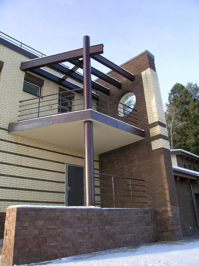 Коттедж, поселок Новорижский, проект частного дома, балкон