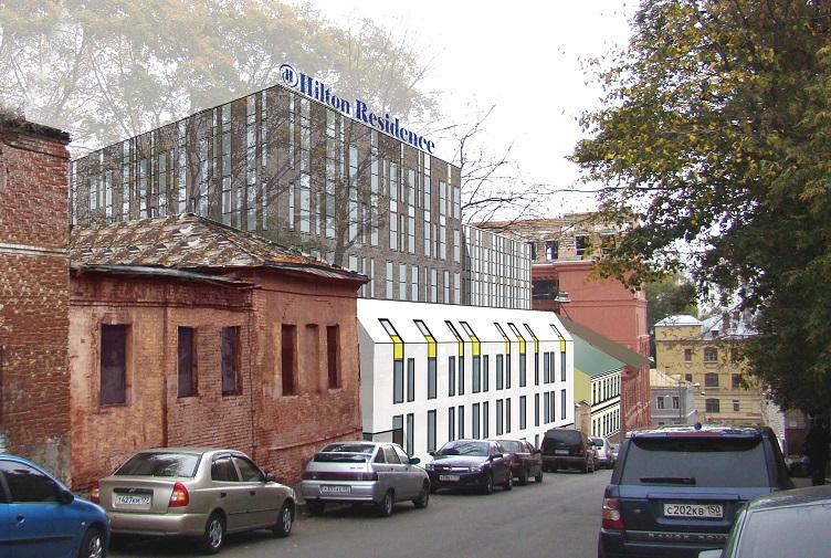 Гостиничный комплекс, многофункциональное здание, Николоворобьинский переулок, архитектурная мастерская, дизайн-проект, эскизный проект, административное здание, жилые помещения, эскизный проект