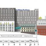 Гостиничный комплекс, многофункциональное здание, Николоворобьинский переулок, архитектурная мастерская, дизайн-проект, эскизный проект, административное здание, жилые помещения, фасады